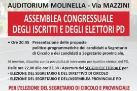 Congresso di circolo del PD di Molinella