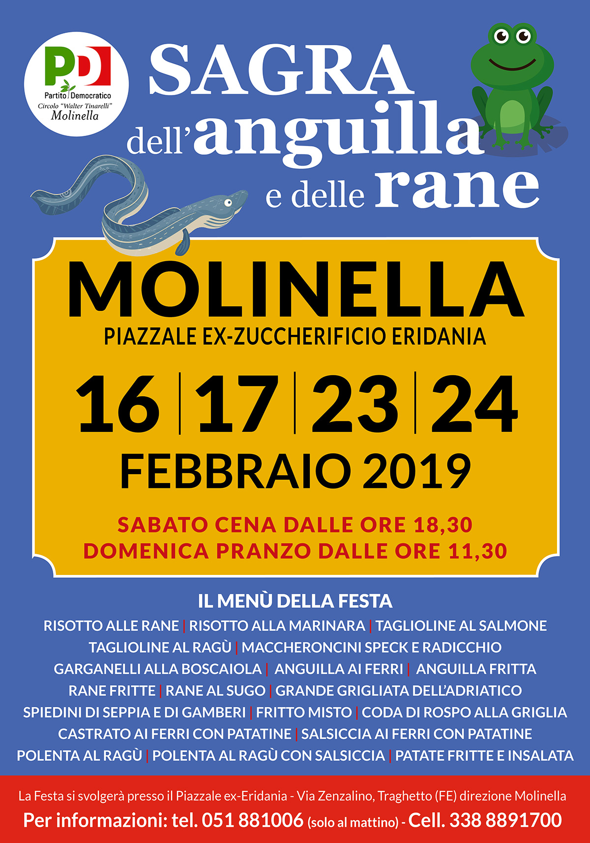 Festa Anguille e Rane Febbraio 2019