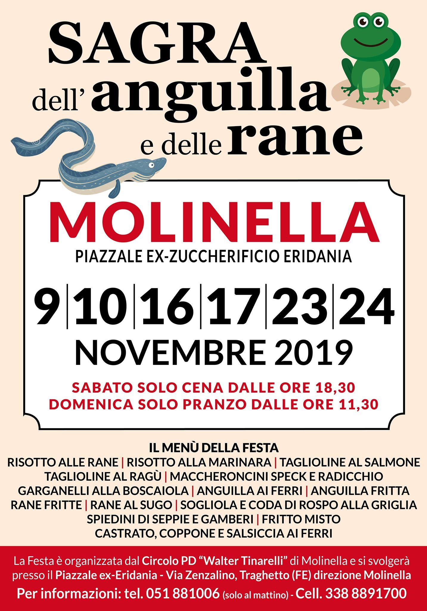 Festa Anguille e Rane Novembre 2019